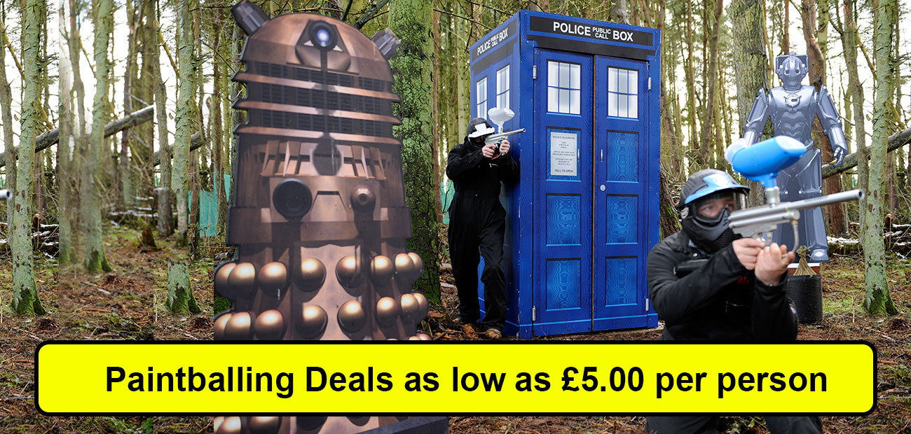 Paintballing deals as low as £5pp